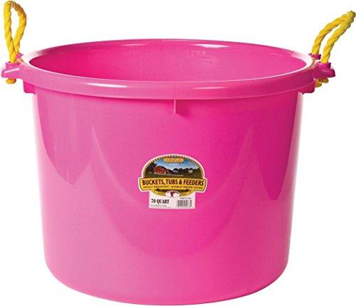 LITTLE GIANT PSB70HOTPINK PSB70 HOT Pink Utility Bucket, 70 Quart