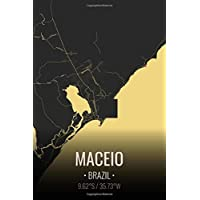 Maceio Brazil: City Map Notebook for Travelers Notebook. 6x9 Inches | 100 Pages