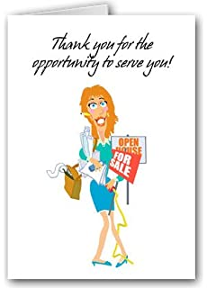 Amazon.com: Realtor Thank You Note Card - 18 Boxed Cards ...