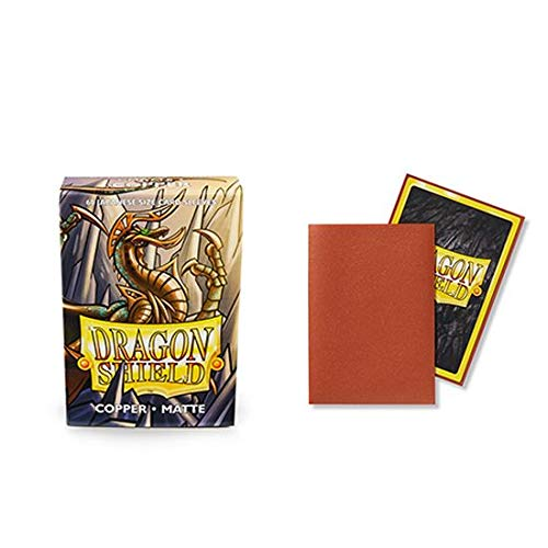 (Dragon Shield Matte Mini Japanese Copper 60 ct Card Sleeves Individual Pack)