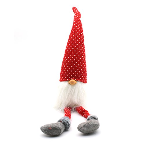 Handmade Swedish Adorable Tomte,Santa - Scandinavian Gnome Plush- Valentine's Day Gifts Birthday Gifts - Home Ornaments Home Decoration,Red