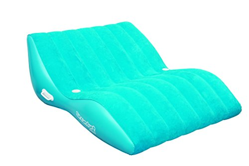 SUN COMFORT COOL SUEDE Double Zero Gravity Lounge, Sapphire (Double Pool Lounger)