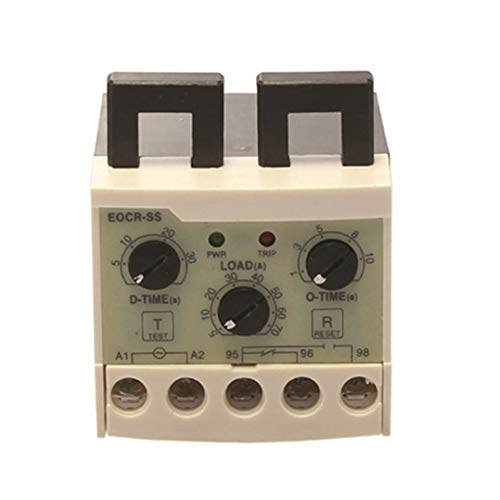 EOCR-SS 0.5-6A Electronic Overload Relay Overload Phase Loss Protection Relay independently Adjustable Starting Trip delay ()