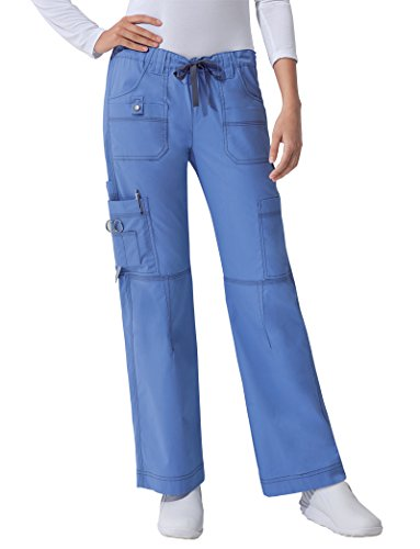 (Dickies Gen Flex Women's Youtility Drawstring Elastic Waist Scrub Pant XXX-Large Petite Ceil)