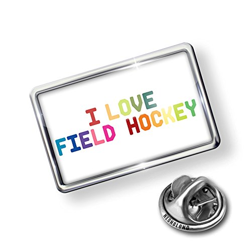 Pin I Love Field Hockey,Colorful - Lapel Badge - (Field Hockey Pin)
