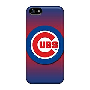Elaney Perfect Tpu Case For Iphone 5/5s/ Anti-scratch Protector Case (chicago Cubs)