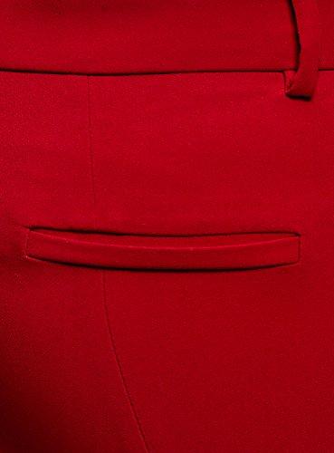 Stretch Rouge Fuselé Pantalon Oodji Ultra 4500n Femme T0fngB