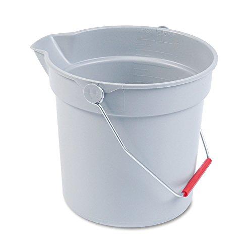 (RCP296300GY - Rubbermaid 10 Quart Plastic Utility Pail)