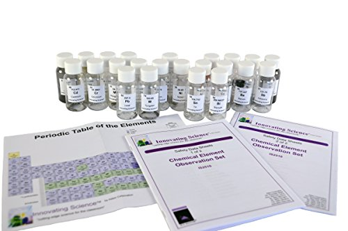 Innovating Science Chemical Element Observation Set (Includes Periodic Table) Chemical Sample Kit