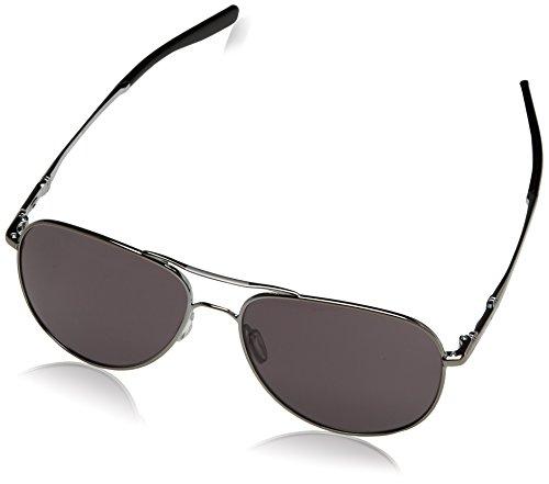 Oakley Elmont Round Sunglasses, Gunmetal w/Warm Grey, 58 mm