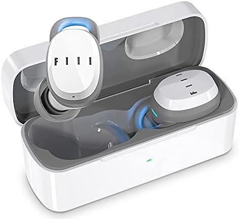 TrueWirelessEarbuds-FIILT1XSTWSBluetooth5.0WirelessEarbuds,Wireless Earphones, NoiseCancellingEarphones,Built-inMicHeadset,SupportFIIL+APP,Waterproof,foriPhone&Android,White