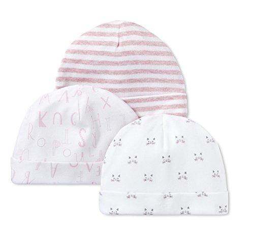 LAMAZE Organic Baby Baby Organic Essentials 3 Piece Hat Set, Pink, 0/3M