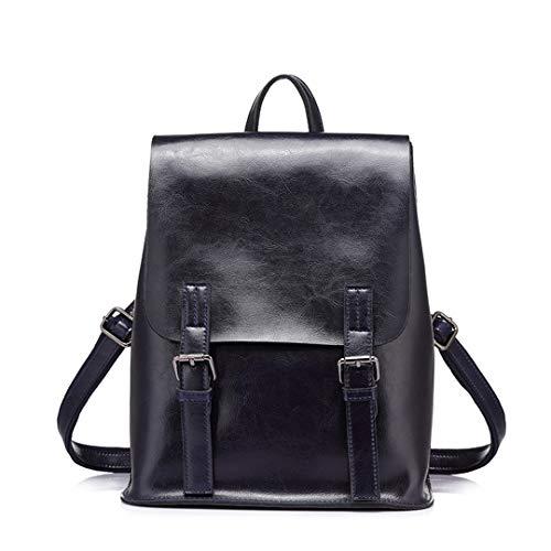 - Women Backpack Oil Wax Cow Split Leather Backpack For Teenage Girls School Backpacks Large Capacity Shoulder Bags