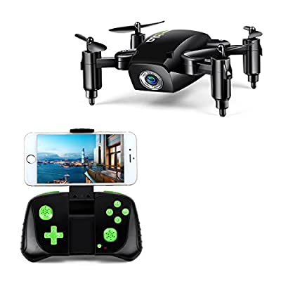 LBLA Mini Foldable RC Drone, FPV 2.4Ghz 6-Axis Gyro Altitude Hold RC Quadcopter with HD WiFi Camera … by LBLA