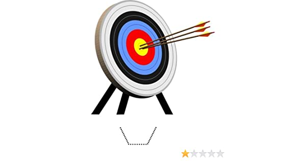 Novelty Archery Target 12 Edible Stand Up wafer paper cake toppers birthday
