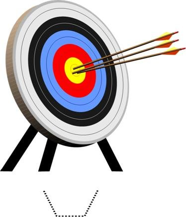 Novelty Archery Target 12 Edible Stand up wafer paper cake toppers