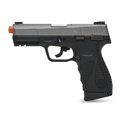 Taurus Soft Air 24/7 G2 Co2 Blowback Two Tone Airsoft Pistol, Black/Silver
