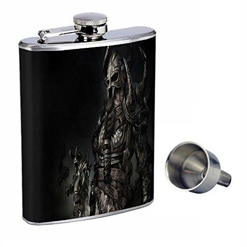 【感謝価格】 Vikings Perfection inスタイル8オンスステンレススチールWhiskey Vikings Flask with Free d-007 Funnel d-007 Free B0181MRXDK, MGCメガネ販売:fa54c008 --- pathlab.officeporto.com