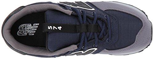 New Balance Unisex Baby 574 Sneaker Mehrfarbig (Navy/grey)