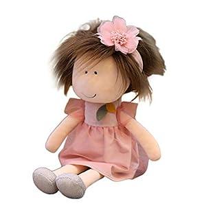 Kengbi 14 Inch Little Eye Rag Doll, Exquisite Cute Handmade Rag Dolls, Girls Sleeping Partner Cute Soft Warm Heart Girl…