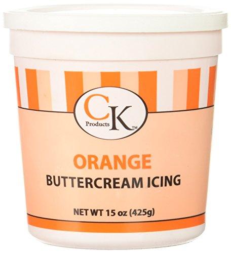 Kosher Orange Cake (CK Products 77-66091 Buttercream Icing Cake Topper, 15 oz, Orange)