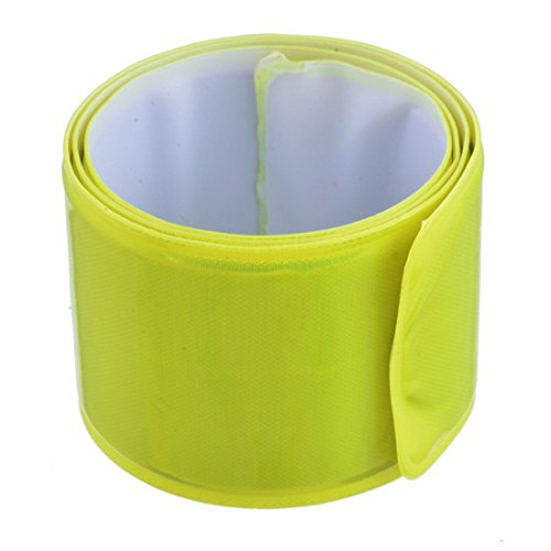 ChicSoleil Bicycle Snap Reflective Night Band Pets Walking Safety Bands Bike Reflector Tape Running Jogging Wristbands Belt Armbands Ankle ()