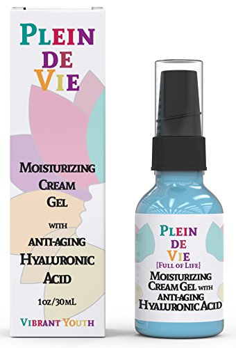 Plein de Vie (Full of Life) Hyaluronic Acid Anti Aging Cream for Skin- 100% Natural Ingredients for Enhanced Moisturization - Intense Hydration + Moisturizer - Plumps and Hydrates by Vibrant Youth