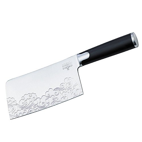 Kuhn Rikon JIU Swiss Designed Cleaver, Black by Kuhn Rikon