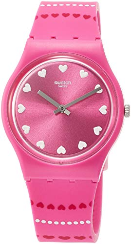 Swatch Womens Analogue Quartz Watch with Silicone Strap GP160
