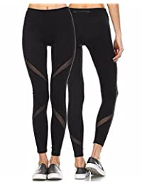 Women's Yoga Pants High Waist Skinny Leggings Sexy Mesh Stretch Fitness Trousers