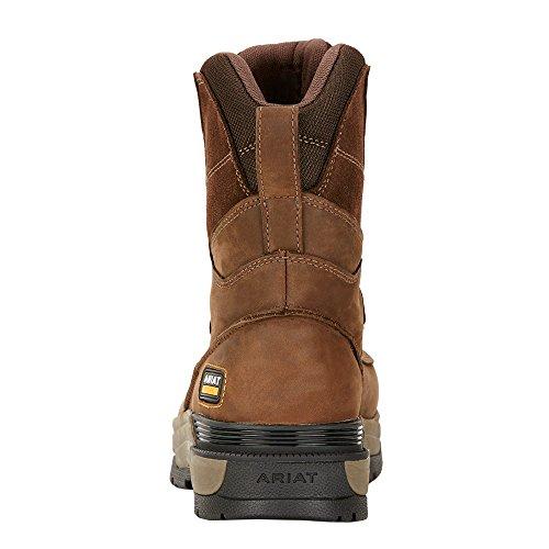 Ariat Hommes Mastergrip 8 H2o Composite Toe Chaussure De Travail Grasse Vieilli Marron