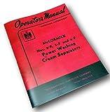 Mccormick Cream Separator Owners Operators Manual 2-F 3-F 4-F Power Wash Full