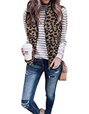 Comeon Women Fleece Fuzzy Sherpa Vest Lightweight Reversible Jacket Sleeveless Cardigan Overwear Waistcoat with Pockets