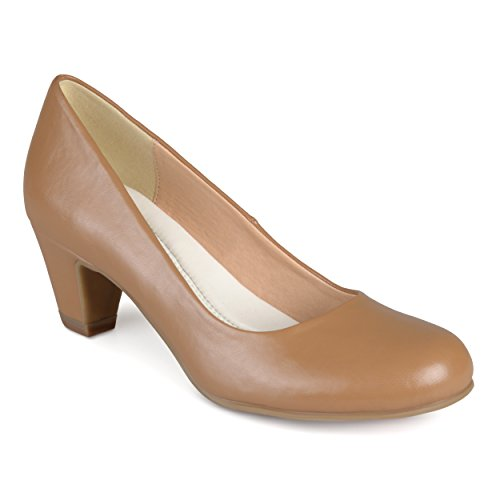 Journee Collection Womens Comfort Fit Round Toe Classic Pumps Chestnut, 8.5 Regular US