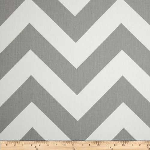 Premier Prints Zippy Chevron Twill Storm Fabric By The Yard (Upholstery Yard Chevron By The Fabric)