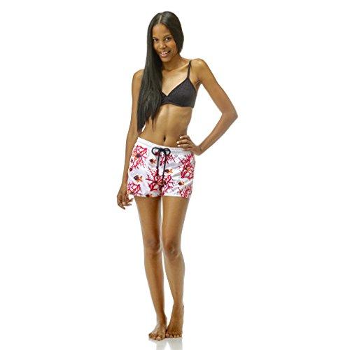 Vilebrequin - Pantalón corto Fanya con bordado Coral & Fishes - Mujer BLANCO
