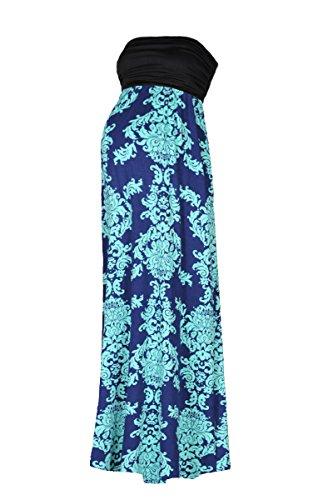 Beachcoco Women's Maternity Comfortable Printed Maxi Tube Dress (L, Multi 05)