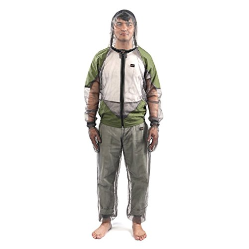 Clothing Mosquito Protective (Anti-Mosquito Suit, Outdoor Lightweight Unisex Head Body Mesh Jacket Pants Mosquito Repellent Clothing for Woman and Men Hiking Fishing Camping Bee feeding Cycling)