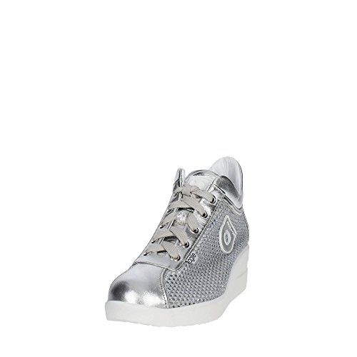 Agile By Rucoline 226 A Sneakers Femme Cuir/tissu Argent Argent 40