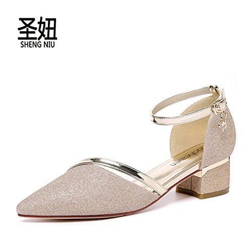 Boda Hueco Consejos Zapatos Zapatos Y Zapatos Tan Mujer Verano De Planos De Fresco Primavera Bajo Como Gold Zapatos HGTYU Cuero El Solo El Zapatos De q8wzfR