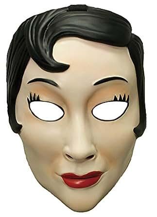Amazon.com: Scary-Masks Emo Girl Plastic Mask Halloween