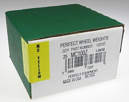 Wheel Weight, MCZ Srs, 1.00 Oz., PK25 by Perfect Equipment