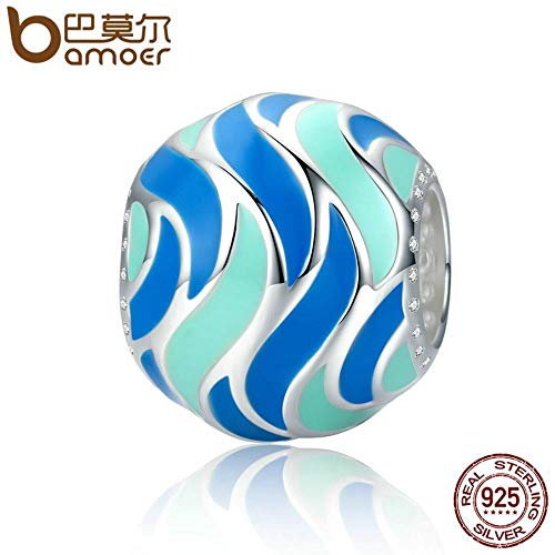 TomTomPro Authentic 100% 925 Sterling Silver Tropical Fish Pattern Enamel Charm Beads fit Bracelets Bangles DIY Jewelry