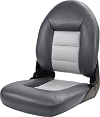 This premium replacement boat seat is sewn with UV and abrasion-resistant polyester thread and boasts 30-oz. marine-grade vinyl to stand up to all the elements. It is constructed with a water resistant molded foam base, an integrated lumbar s...