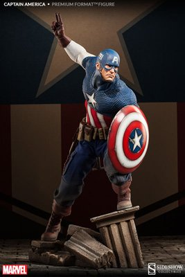- Marvel 1/4 Scale Premium Format Figure: Captain America
