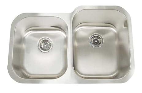 Artisan 31 X 8 10 X 20 Double Bowl Undermount 16 Gauge Kitchen Sink