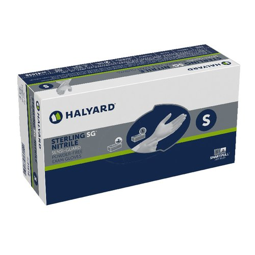Halyard Health 41658-bx SG Nitrile Sensiguard Pf Exam Gloves, S, Shape, Small, Sterling (Pack of 250) Inc.