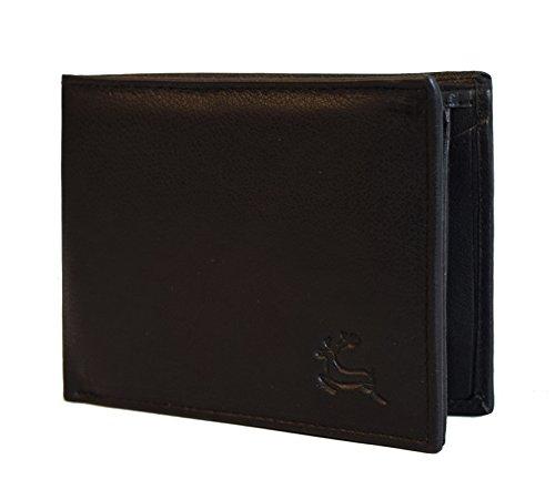 "Leaderachi – 100% Pure Genuine Real Leather Handmade Men Wallet [""MELILLA"" (BLACK)]"