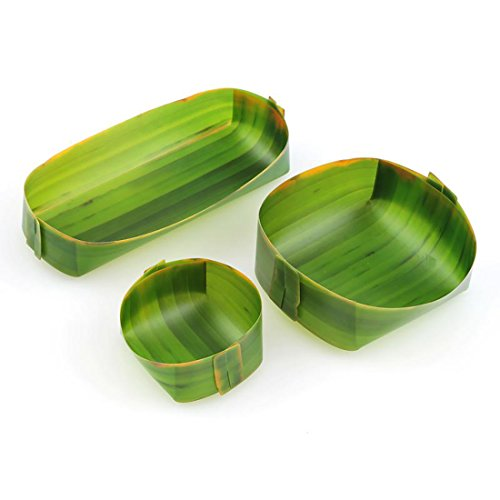 Foster Banana Leaf Design Storage Trays - 3 Sizes in 1 Set