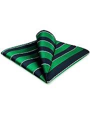 Shlax&Wing Nuevo Traje De Negocios Hombre Seda Pañuelo De Bolsillo Para Verde Azul Rayas 32cm